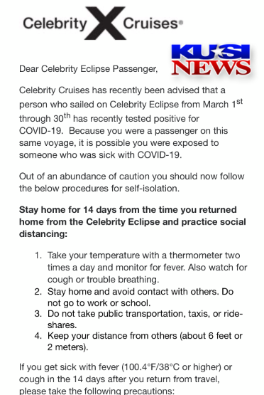 Celebrity Cruise Email 1