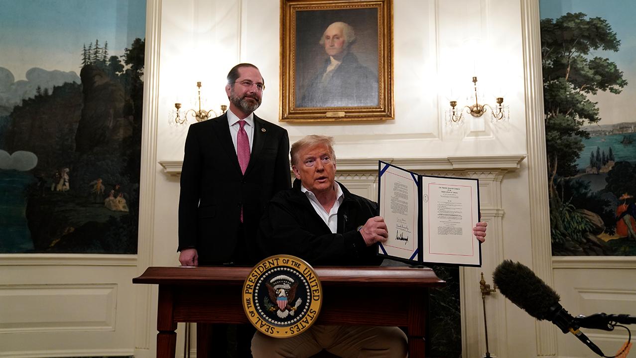 Trump Signs Coronavirus Spending Bill