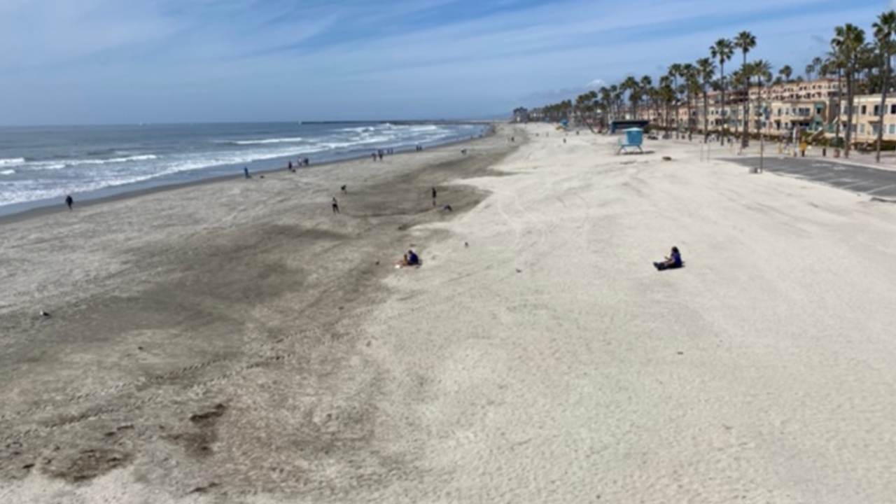 Empty Oceanside Beach