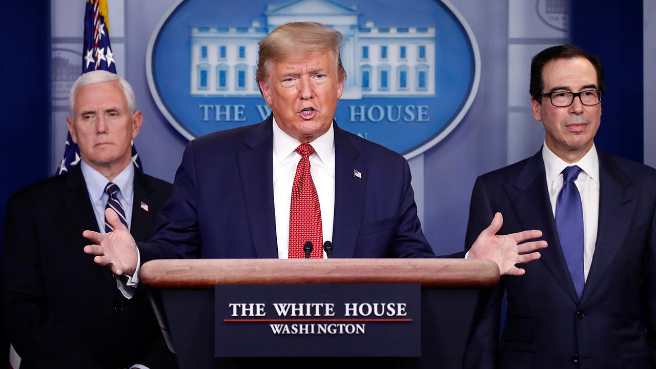 Trump Pence Mnuchin Covid19 Presser