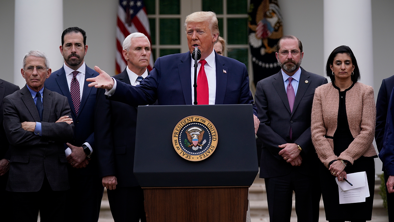Trump Rose Garden For National Emergency