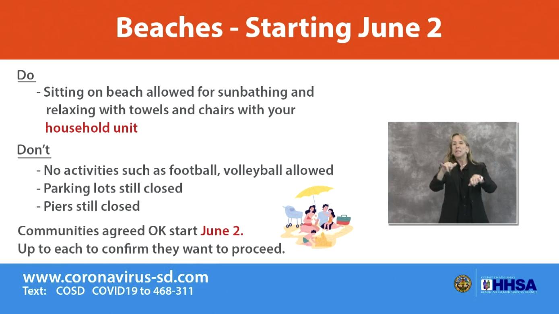 Beach Rules Starting June 2