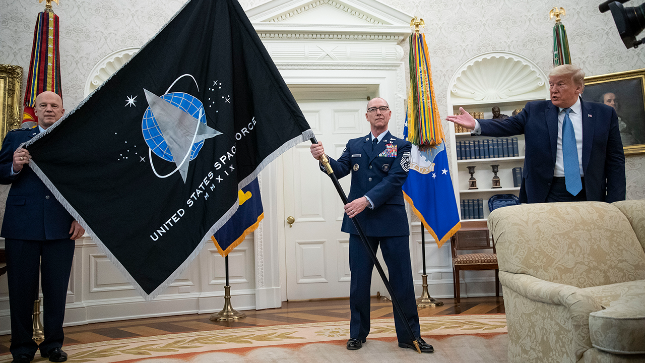 Space Force Flag Unveiling