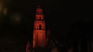 Balboa Park Tower Lit For Covid Deaths