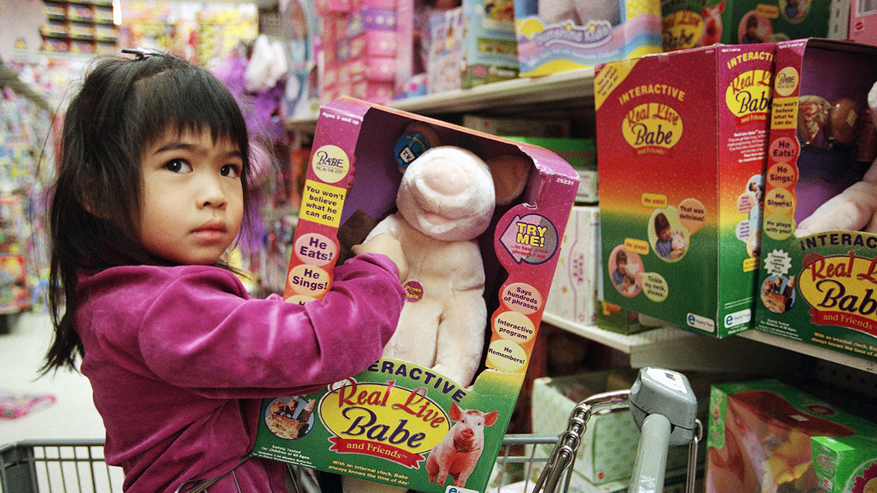Kid In Toy Store