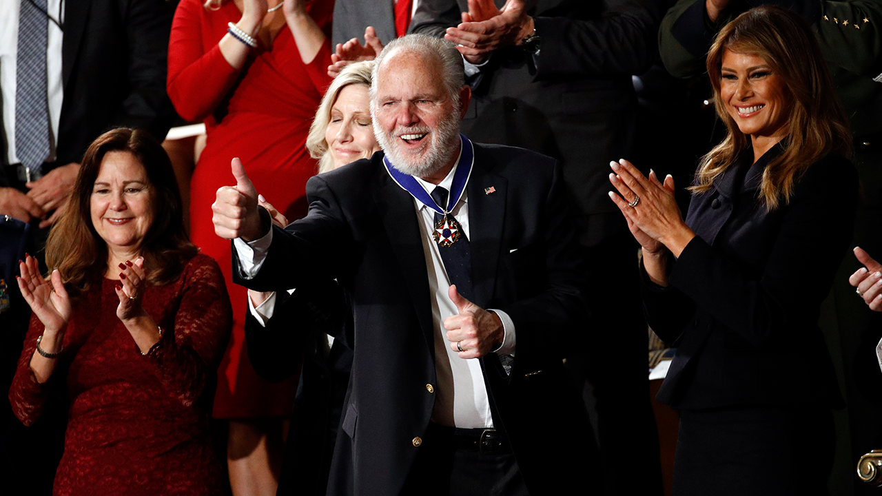 Rush Limbaugh Medal Of Freedom Thumbs Up