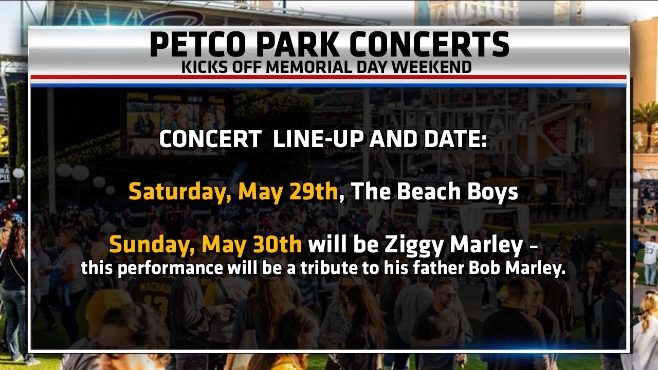 Petco Park Concert Schedule May 2021