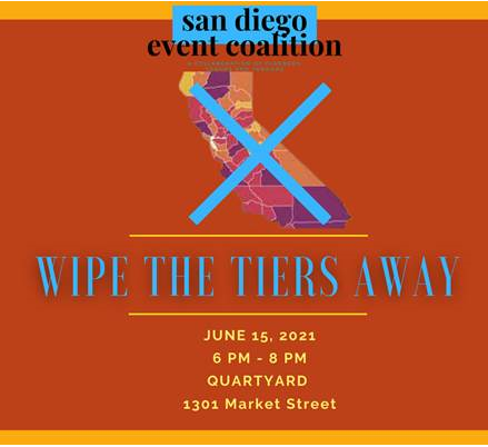 San Diego Event Coalition Wipe The Tiers Away Flier