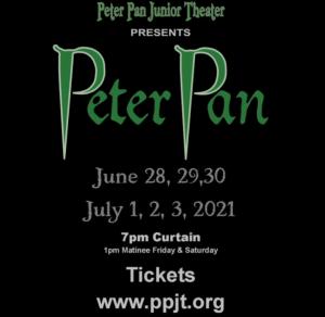 Peter Pan Junior Theater Poster