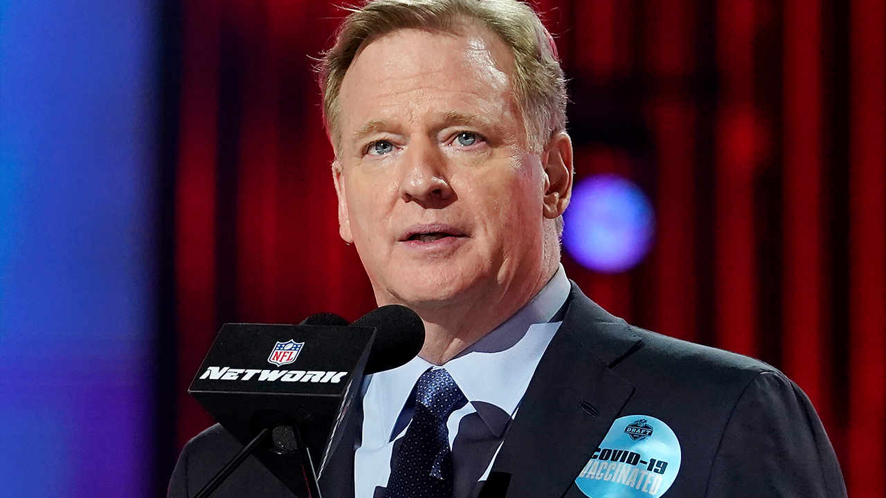 Roger Goodell Vaccinated Sticker