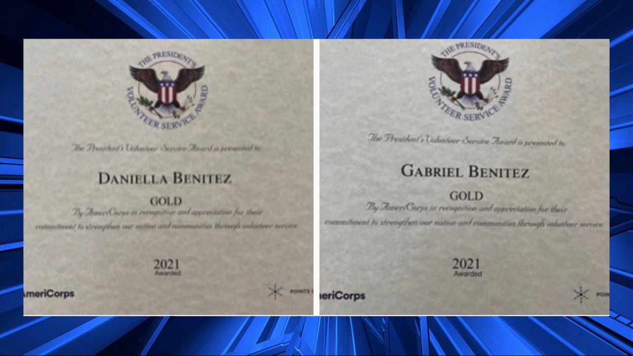Daniella And Gabriel Benitez Award Signed By Biden