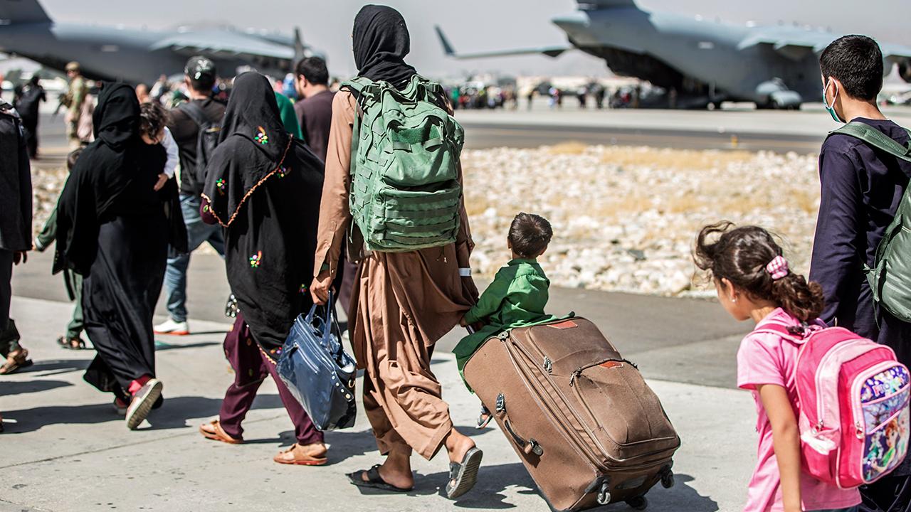 Evacuees Boarding Plane In Kabul